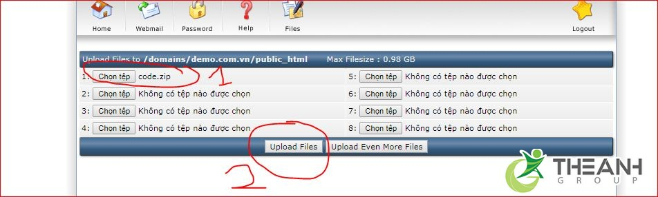 Upload code từ local