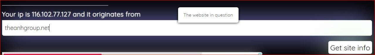 get ip website